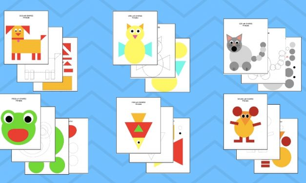 Cut and Paste Shapes- DIY Animals for Kids