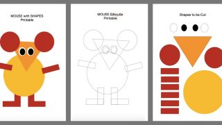 Cut and Paste Shapes- DIY MOUSE