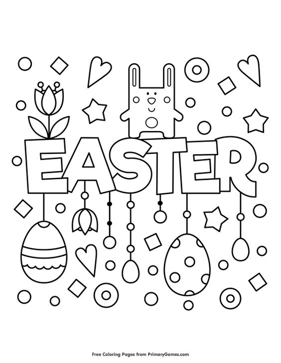 Easter Coloring Pages eBook: Easter