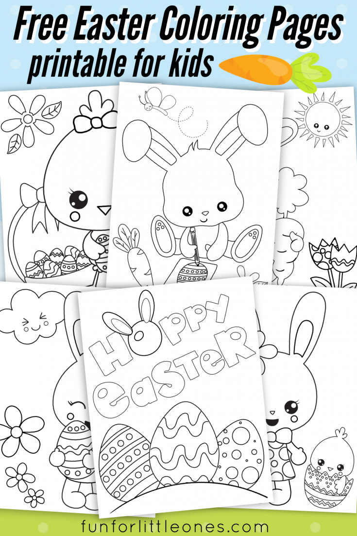 Easter Coloring Pages for Kids (Free Printable)