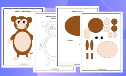Cut and Paste Shape Craft – Monkey Puzzle