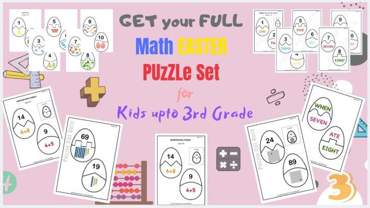 Bundle of Number Egg Puzzles – PreK, KG to Grades 1, 2