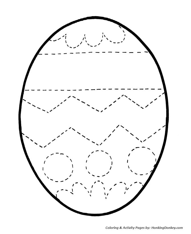 Easter Egg Coloring Pages - Simple Easter Egg Outline... Design Kids