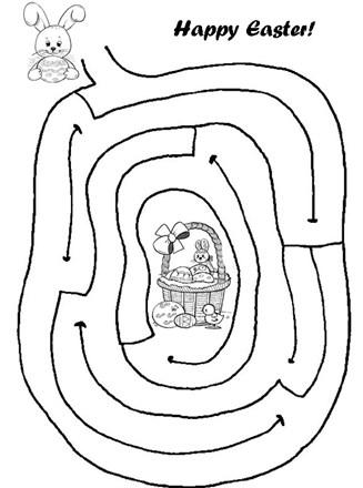 Easy Easter Maze