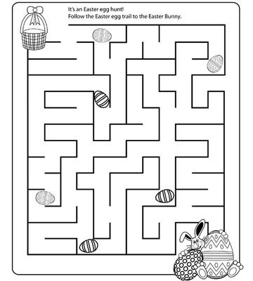 Fun and Free Easter Mazes