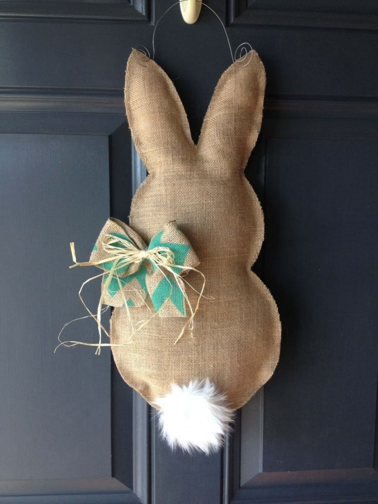 DIY Easter Bunny Door Hanger Tutorial