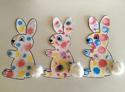 Ink stamps: the dotted rabbit