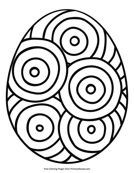 Easter Coloring Pages eBook: Easter Egg with Circle Design