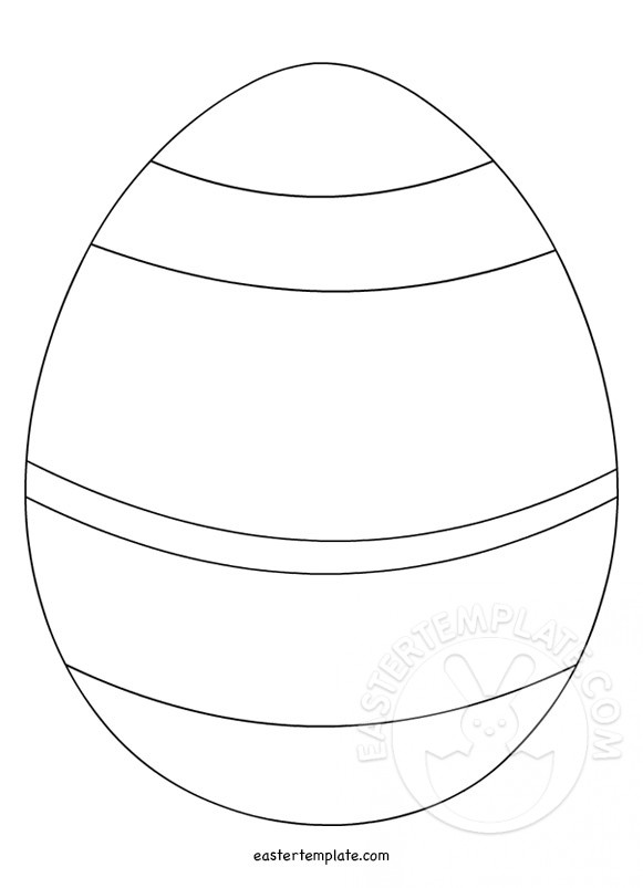Striped Easter Egg template