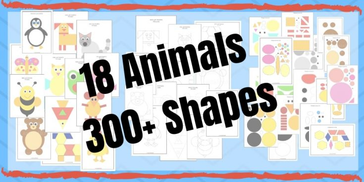 Cut and Paste Shape Craft - Animal Shape Puzzles