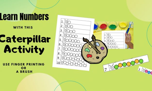 Fingerprint Caterpillar Activity – Learning Numbers
