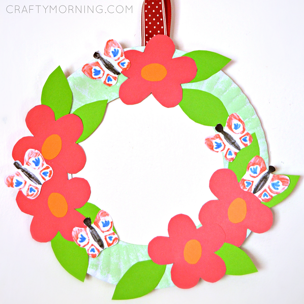Paper Plate Flower Garden Wreath