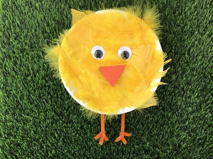 Easy Spring Craft: Paper Plate Chick Craft