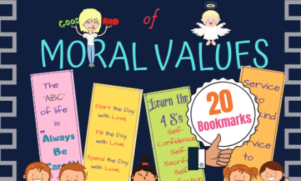 Moral Values Based Take Away Bookmarks