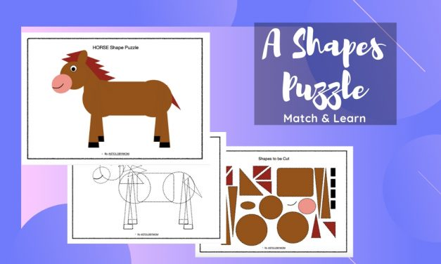 Cut and Paste Horse Shape Puzzle