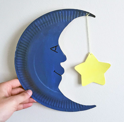 DLTK's Crafts for Kids Moon Paper Plate Craft