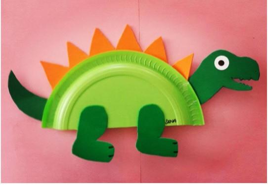 paper plate dinosaur craft ideas
