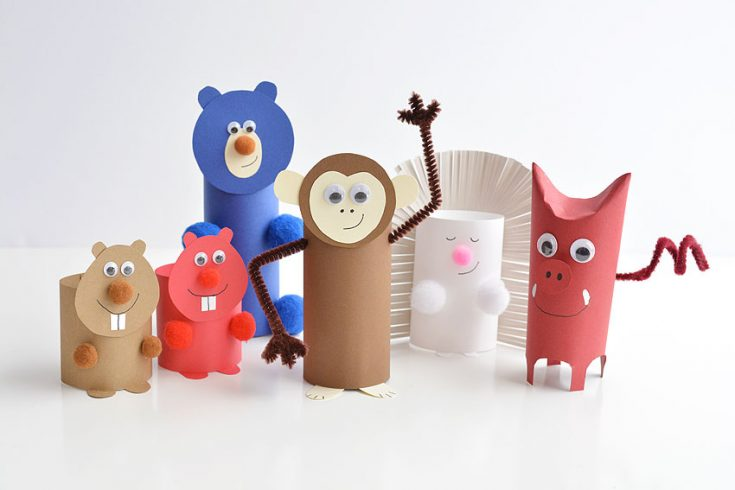 How to Make Paper Roll Animals | Bears, Monkeys, Porcupines and More!