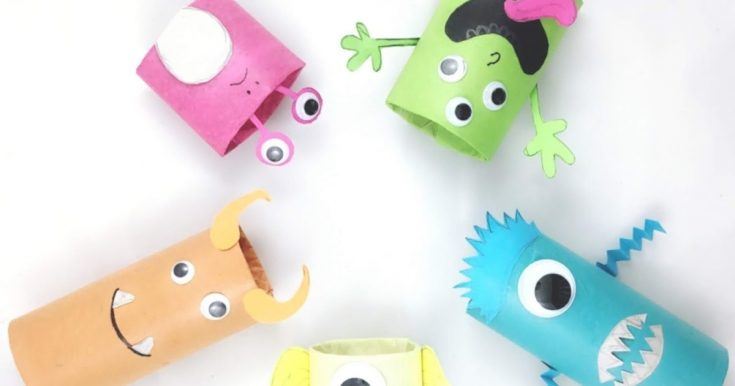 Cardboard Tube Monsters Halloween Craft