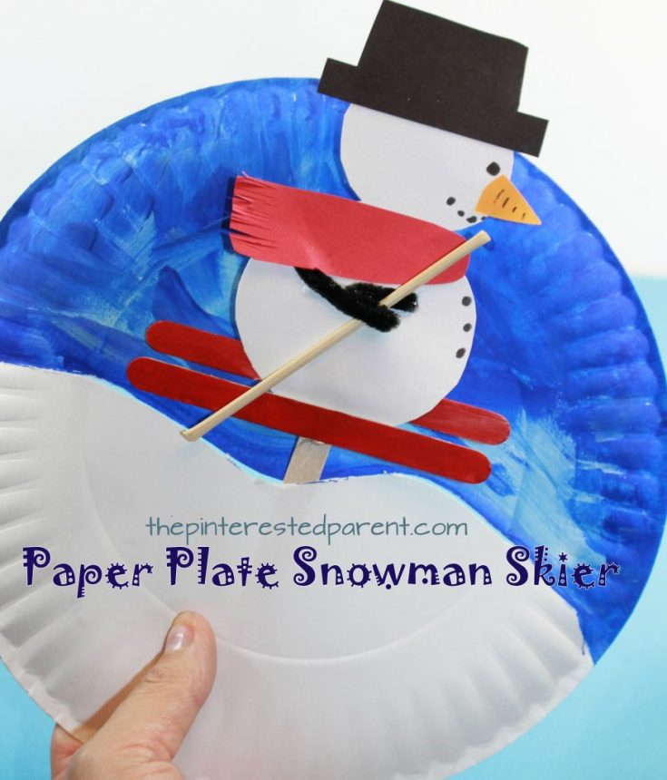 Paper Plate Snowman Skier Craft – The Pinterested Parent