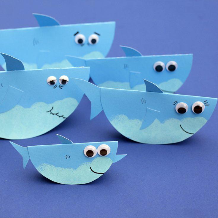 Rocking Paper Shark Family