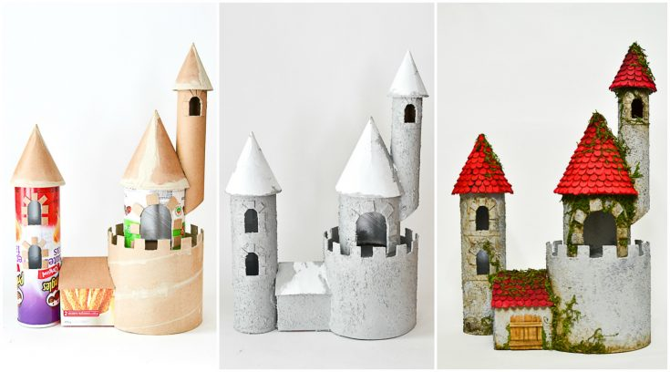 DIY Make a Castle from Cardboard Rolls & Other Recyclable Materials