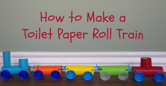 Toilet Paper Roll Train Craft Kids Will Love Making This!