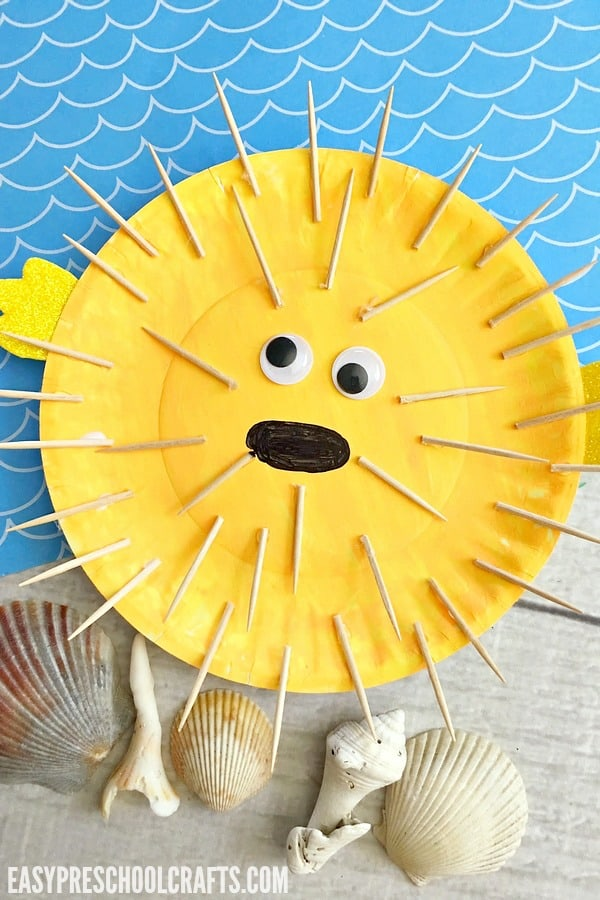 Paper Plate Fish Craft Blows Up! (Puffer Fish)