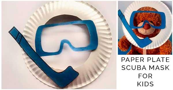 Paper Plat Scuba Mask for Kids