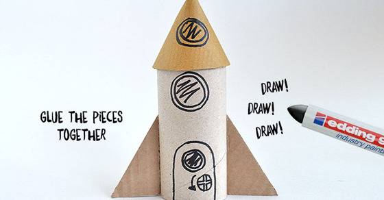 Toilet Roll Craft Rocket - Blast Off!!!!!