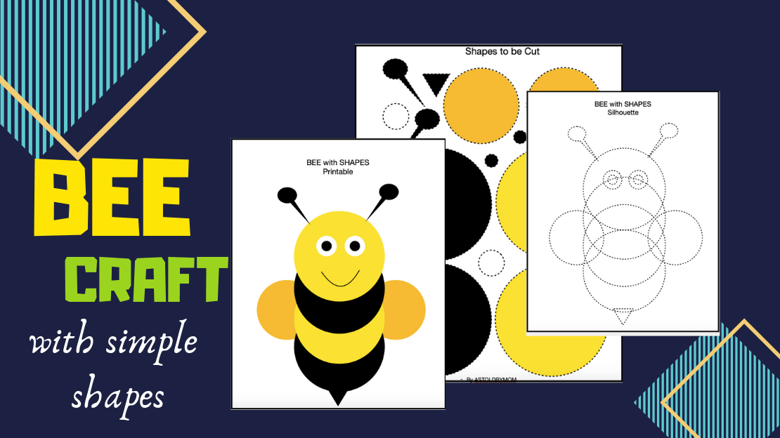 Honey Bee Craft- with SHAPES