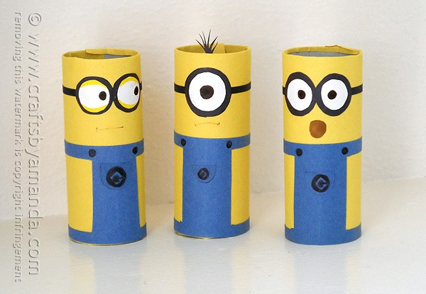 Cardboard Tube Minions: an adorable and easy minion craft!