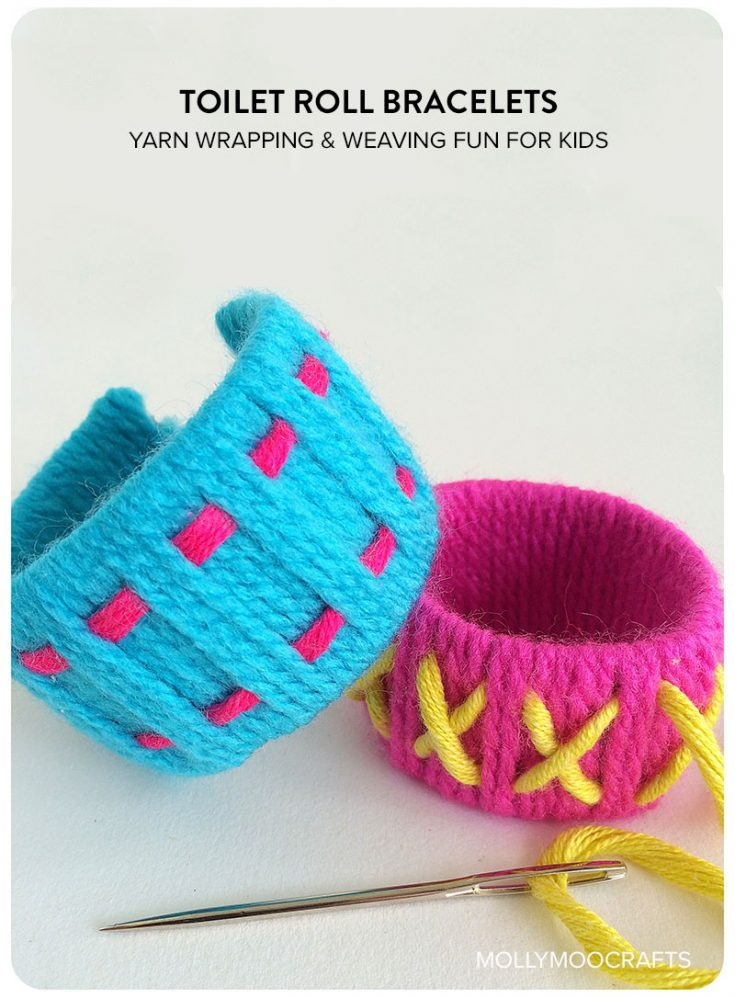Simple toilet roll crafts for kids: toilet roll bracelets