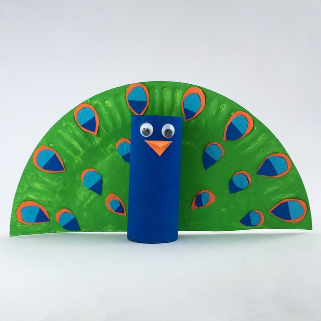 "Elisa Allen on Instagram: ""Toilet roll Peacock #kidscrafts #kidsactivities"""