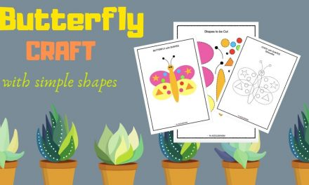 Cut and Paste Shape Craft – Butterfly Puzzle
