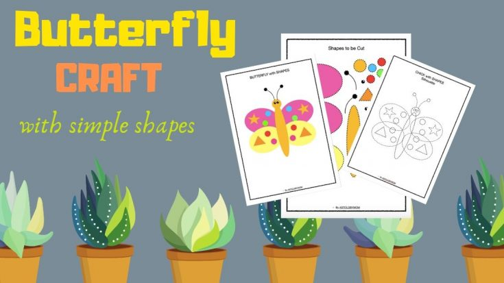 Cut and Paste Shape Craft - Butterfly Puzzle