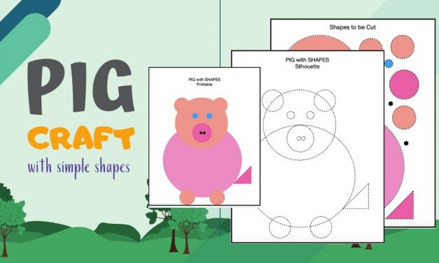 Cut and Paste Shapes -Pig Puzzle