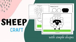 Cut and Paste Shape Puzzle - Sheep Puzzle