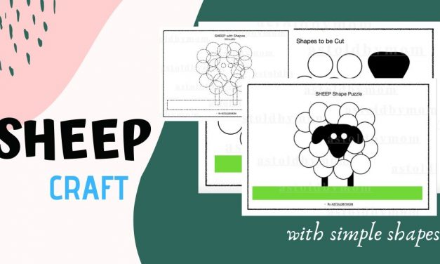 Cut and Paste Shape Puzzle – Sheep Puzzle