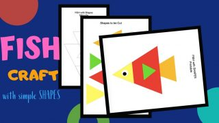Cut and Paste Shape Craft - Fish Puzzle