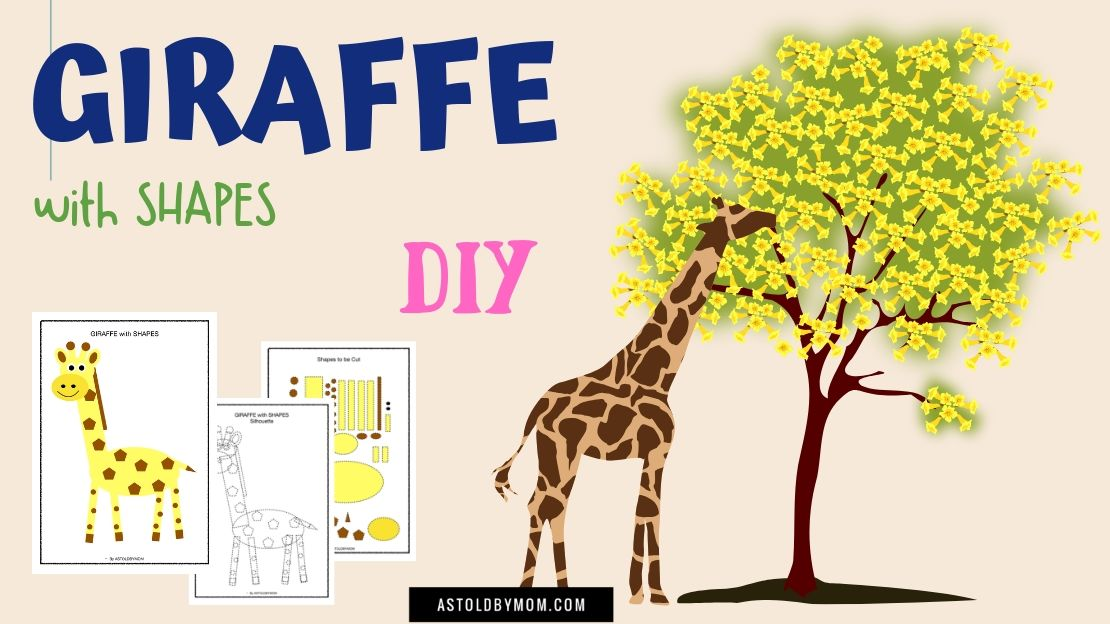 Cut and Paste Shape Puzzle – GIRAFFE Craft