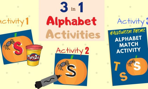 Alphabet Pumpkins – 3 in 1 Halloween Activities for Pre-K & Kindergarten