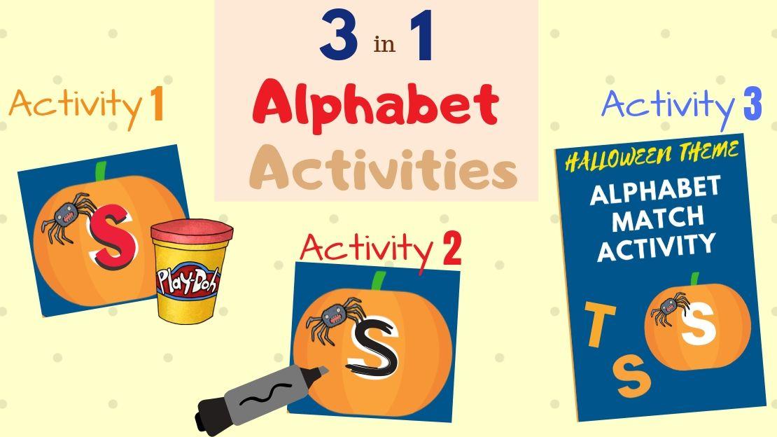 Alphabet Pumpkins – 3 in 1 Halloween Activities for Pre-K & Kindergarten