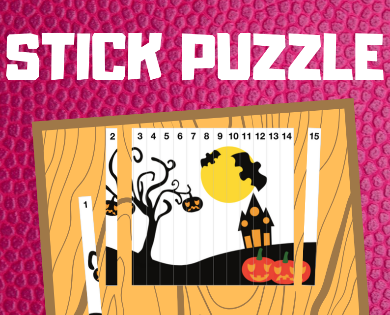Halloween Popsicle Stick Puzzle