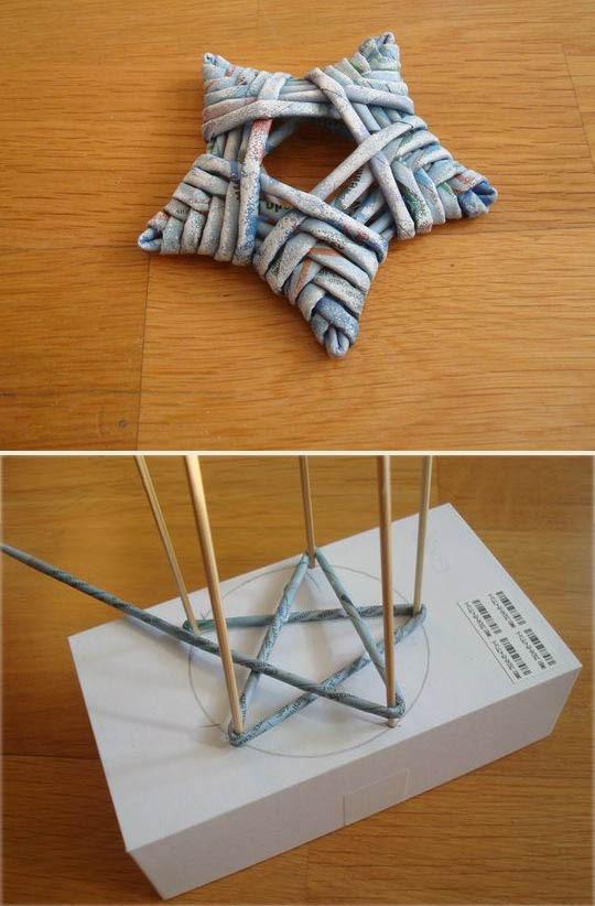 DIY Yarn / String Star