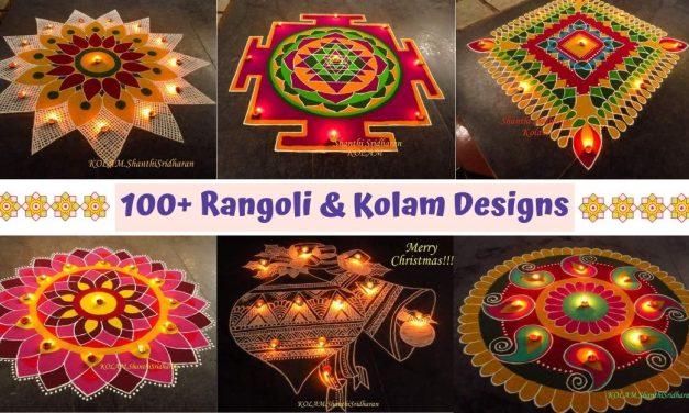 100+ Rangoli & Kolam Designs