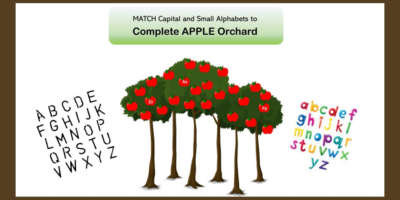 Apple Alphabets Orchard- Learn Capital and Small Letters