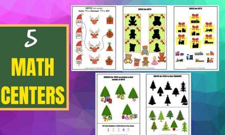Shape Sorting Activity – (Christmas Theme) SANTA, XMAS Trees n More