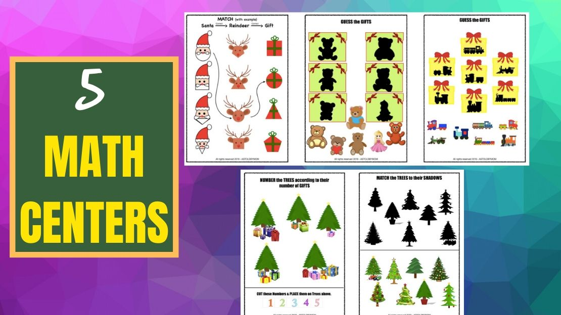 Shape Sorting Activity – (Christmas Theme) SANTA, XMAS Trees n More