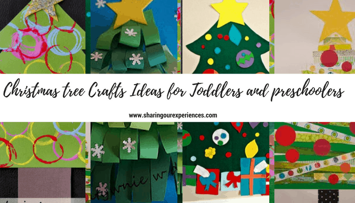 Easy Christmas Tree Crafts Ideas for toddlers and preschoolers